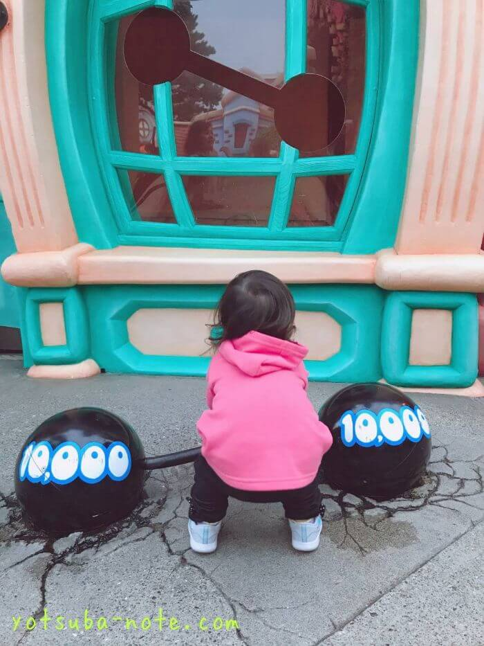 トゥーンタウンで遊ぶ娘