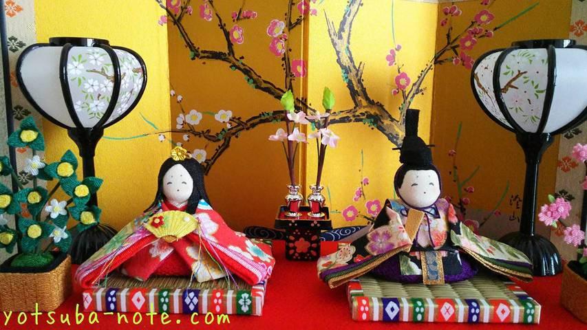 リュウコドウのひな人形の殿と姫