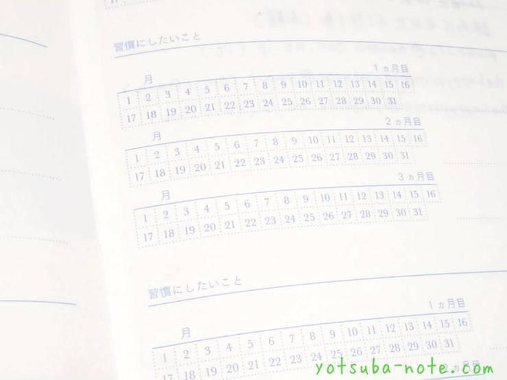 日の長さを感じる手帳の習慣にしたいことページ