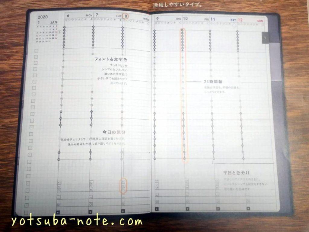 ジブン手帳、バーチカルページ